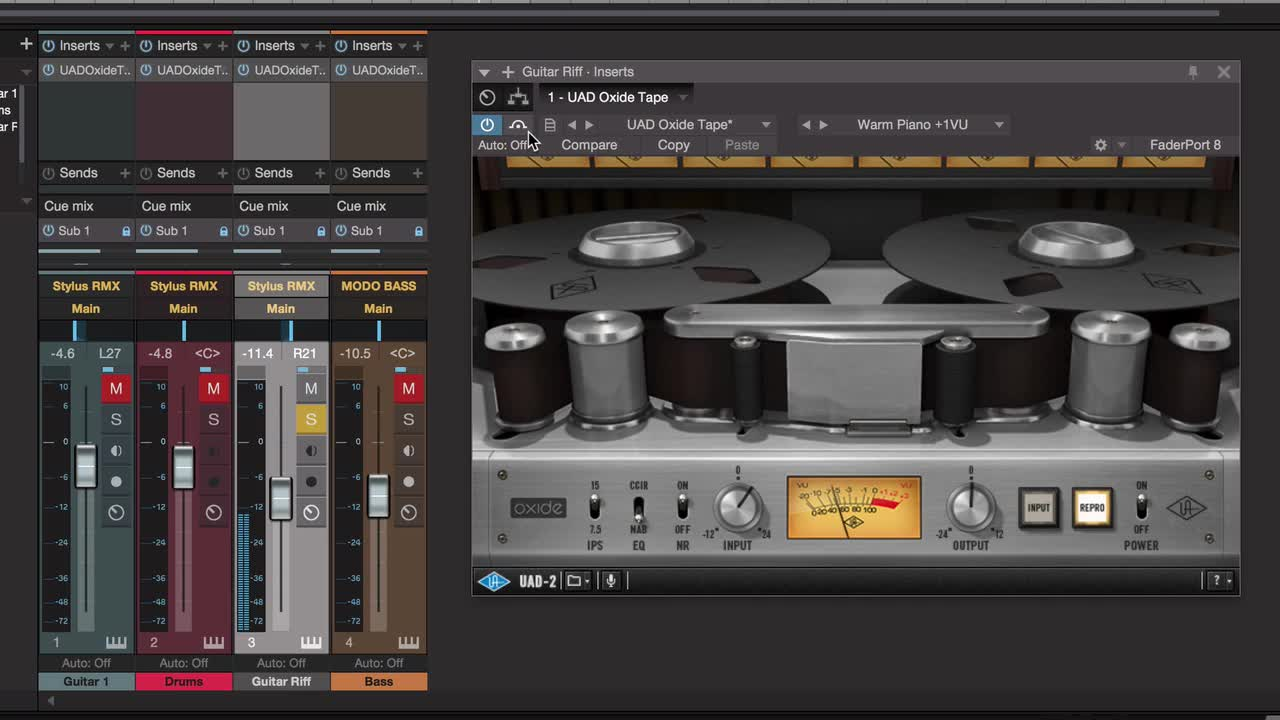 Using The UAD Oxide Plug-in To Improve Virtual Instruments In
