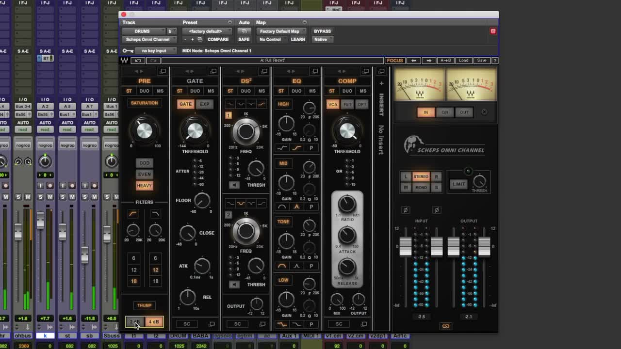 Tutorial - Mixing Drums Using Waves Scheps Omni Channel Plug-in