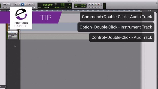 Tip - Creating New Tracks By Double-Clicking With The Mouse