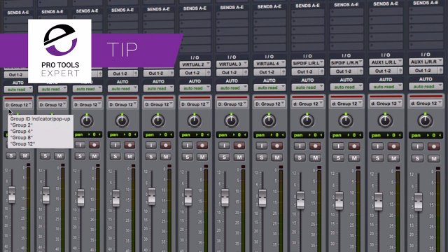 Tip - Group Priority In Pro Tools