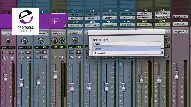 Tip - Using The New Scroll To Track Name Feature In Pro Tools 12.8.2