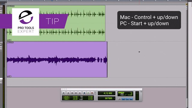 Tip - Changing Track Heights In Pro Tools Using Keystrokes