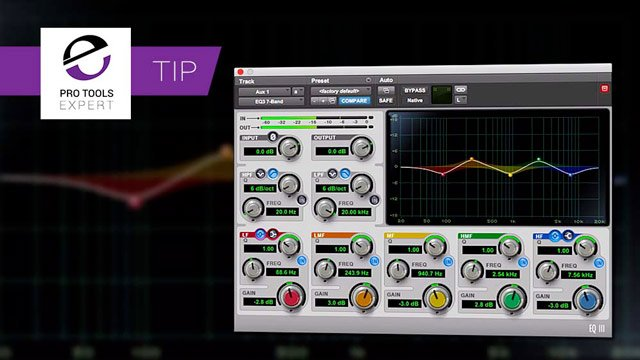 Tip - Using Shift To Invert Gain In EQ III To Fake Stereo In Pro Tools