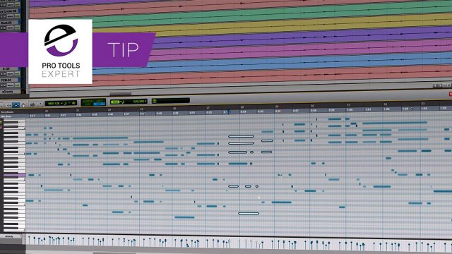 Tip - Opening The Docked MIDI Editor And Navigating MIDI Notes Using Keystrokes In Pro Tools