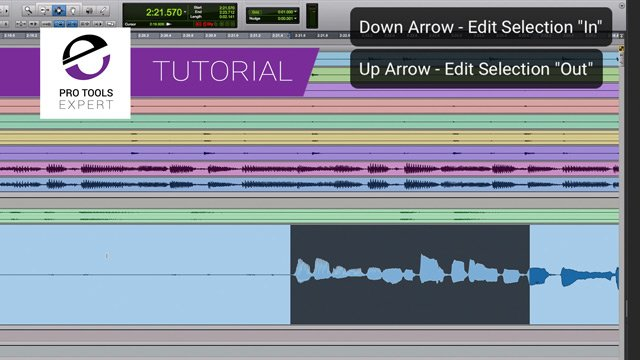 Tutorial - Using The Arrow Keys To Create And Navigate Edit Selections & Centre The Playhead In Pro Tools