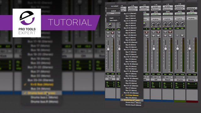 Tip - Routing Pro Tools Tracks To Multiple Outputs Without Using Sends