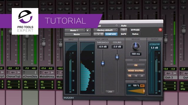 Free Tutorial - Pro Tools For Beginners - Limiting And Bouncing To Stereo