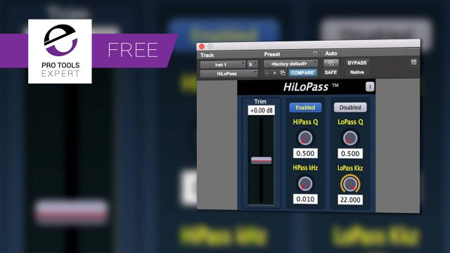 Friday Free Plug-in -  Direct Approach HILoPass High/Low Pass Filter