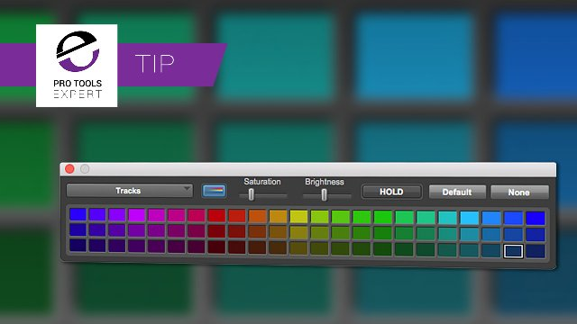 Colour Your Pro Tools Tracks Quicker With This Expert Tip