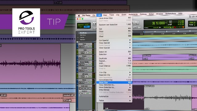 Muting Clips In Pro Tools You Can Try Out New Arrangement Ideas Fast - Expert Tip