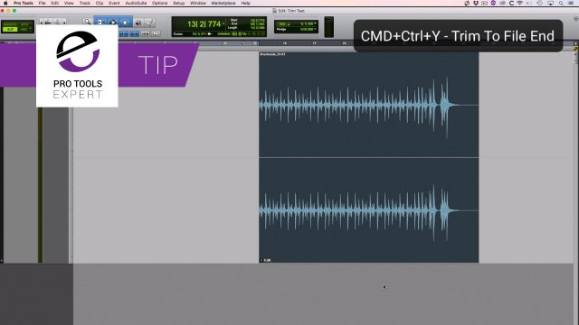 Tip - You Can Quickly View The Handles Of a Clip In Pro Tools Using This Keystroke