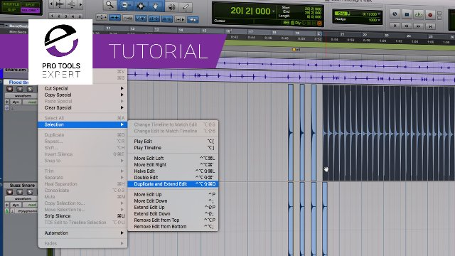 Pro Tools 2018.7 - You Have To Try The New Duplicate And Extend Selection Command. It's Faster And Simpler Than Using Repeat.