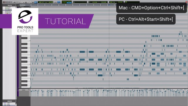 Pro Tools Tip - Edit Faster. Zoom Your MIDI To Fill The Screen From Lowest Note to Highest With This Handy Shortcut.