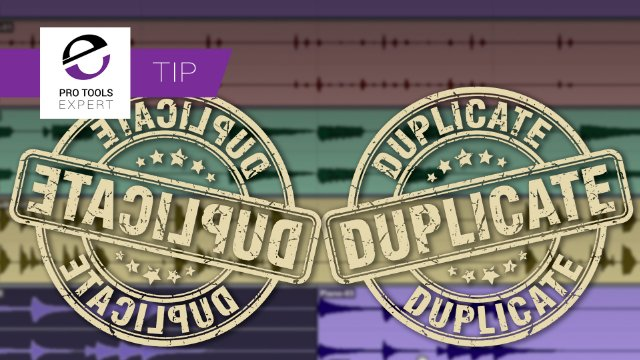 Pro Tools Tip - Duplicate Clips Backwards Down the Timeline With This keyboard Shortcut