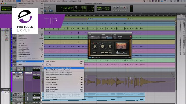Convert Pro Tools Volume Automation To Clip Gain - When Does it Sound Different?