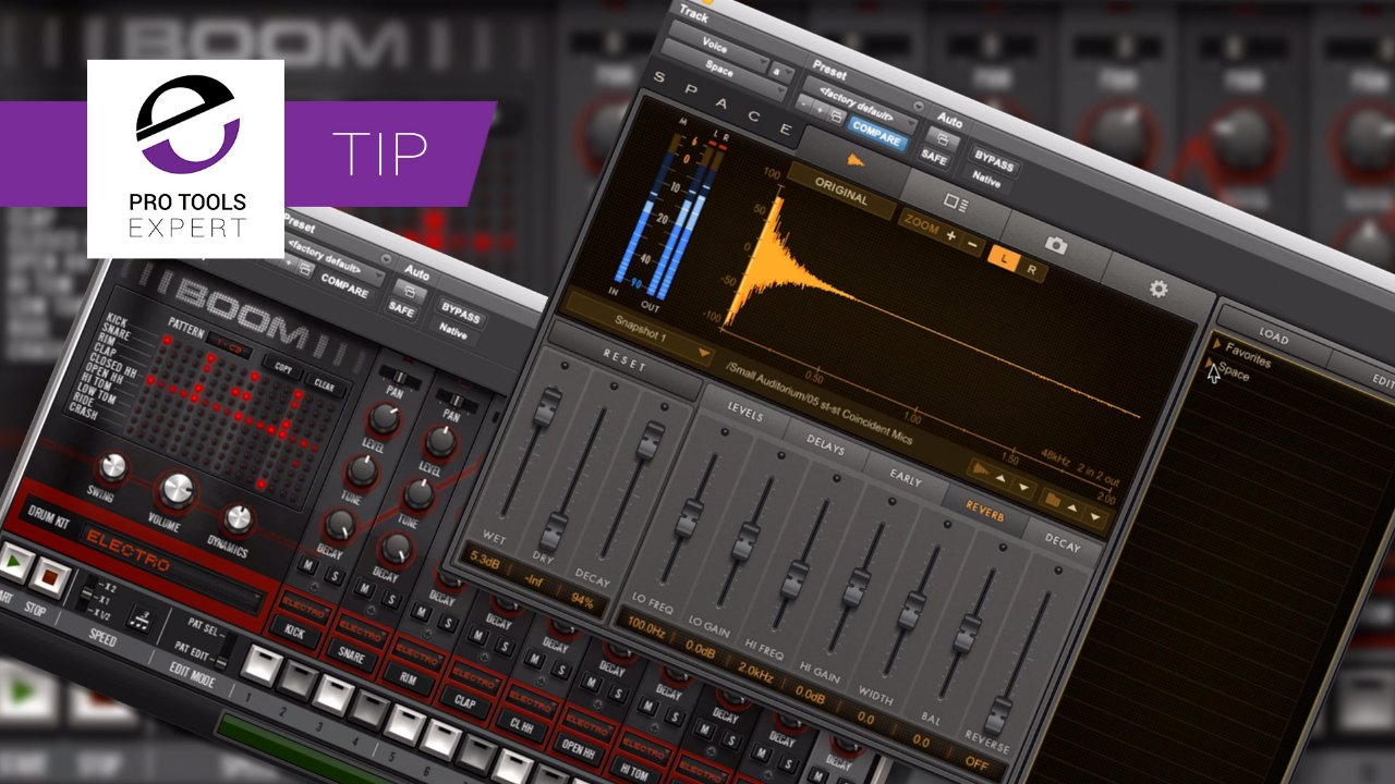 Making Original Reverbs Using Avid Space And Boom! - Expert Tip