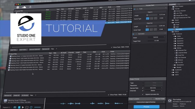 Presonus Audio Batch Converter - Takes The Work Out Of Outputting Audio Files From Studio One