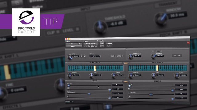 Use Pitch II To Widen Stereo Tracks In Pro Tools - Expert Tip