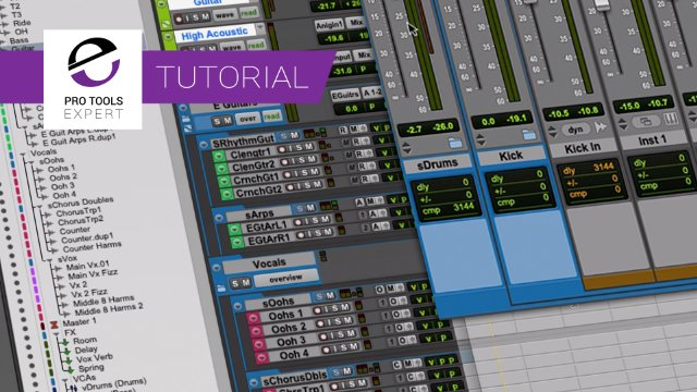 Routing Folder Tracks In Pro Tools