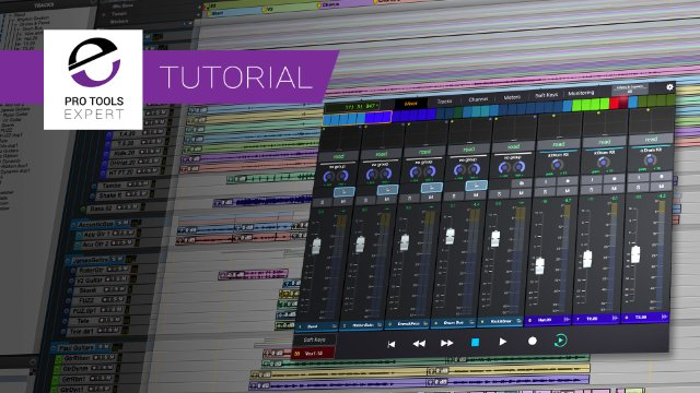 Using Pro Tools Folder Tracks With The Avid Control App