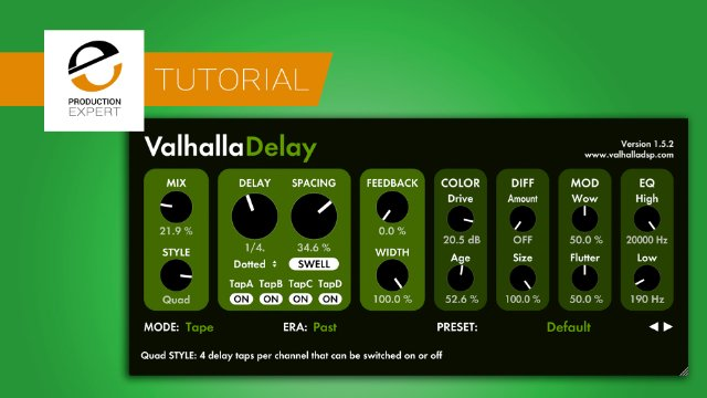 Multi-Tap Delay Tutorial - What Is The Quad Style In Valhalla Delay?