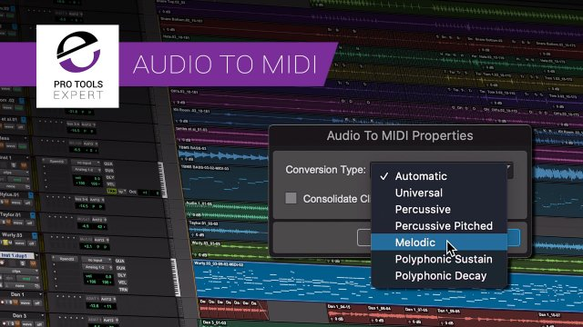 Audio To MIDI In Pro Tools 2020.11