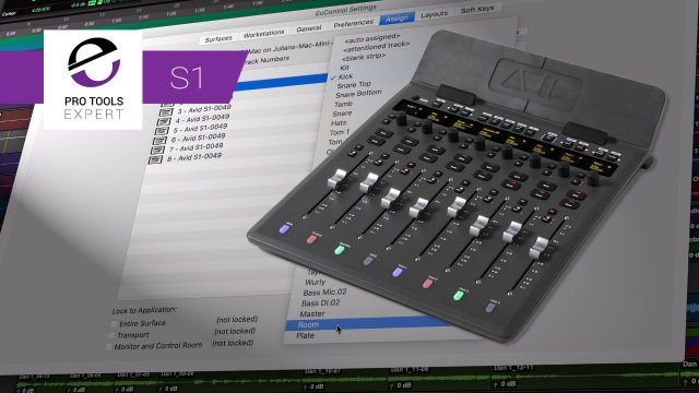 Avid S1 Control Surface - Using Layouts