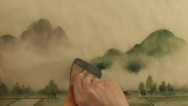 Landscape Study: Demonstration on Mountain, Mist & Wash