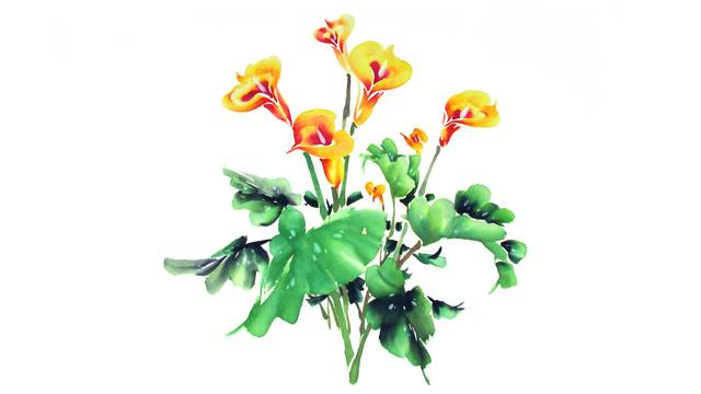 Calla Lily from Chinese Flower Painting 2: Lesson 305