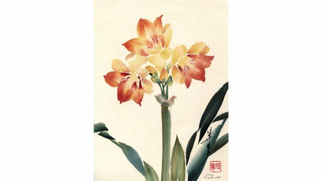 Clivia from 108 Flowers Book 1: Lesson 8025