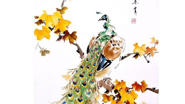 Peacock from Chinese Animal Painting: Lesson 512