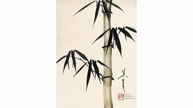 Bamboo from 108 Flowers Book 1: Lesson #8006