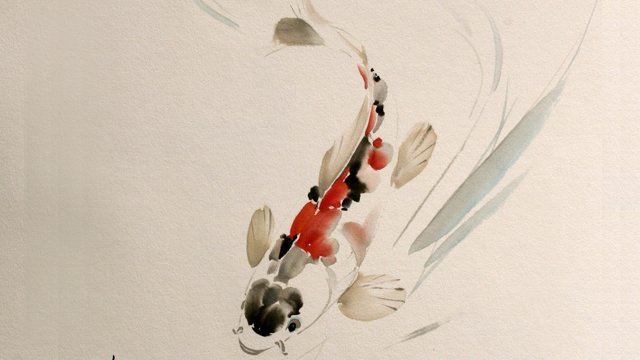 Koi from Chinese Animal Painting: Lesson 514