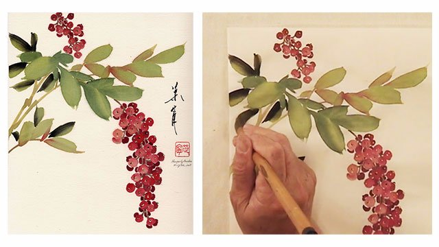 Heavenly Bamboo from 108 Flowers Book 2: Lesson 8051