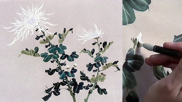 Chrysanthemum from Chinese Flower Painting 1: Lesson 209-210