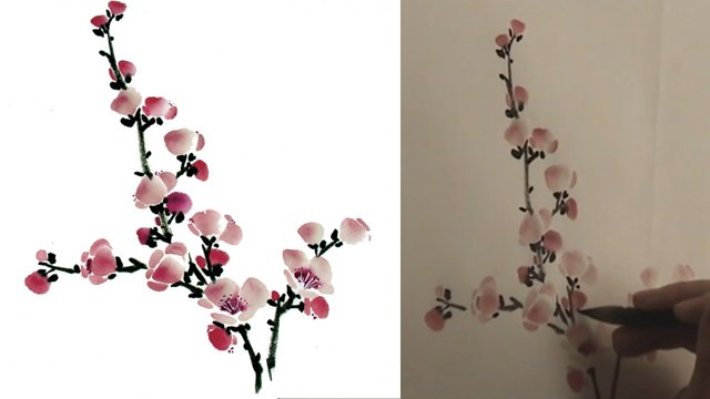 "Plum Blossom ""Flowers"" from Chinese Flower Painting 2: Lesson 307"