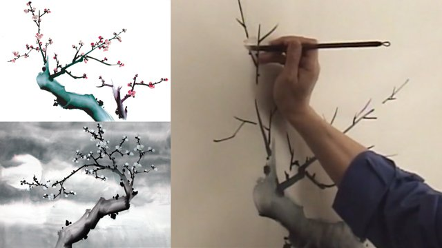 Plum Composition / Moon Plum from Chinese Flower Painting 2: Lesson 308