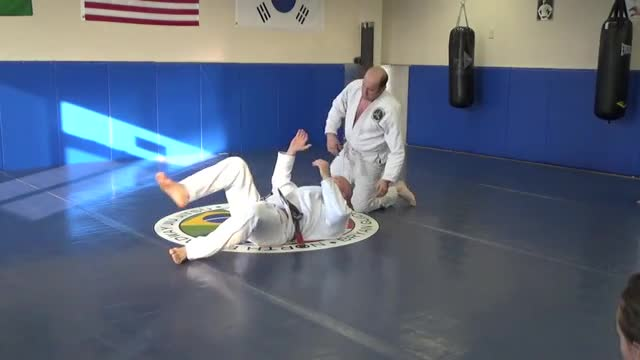 Armbar and choke from mount