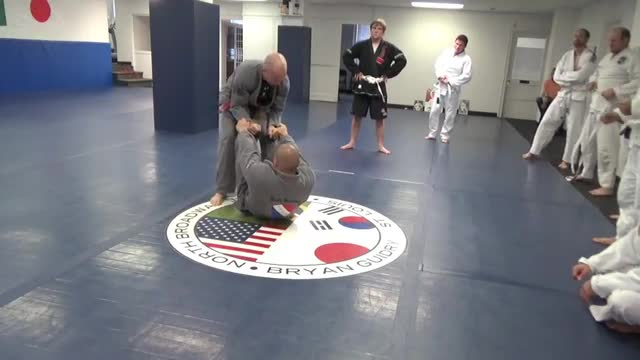 Spider guard to arm drag, triangle