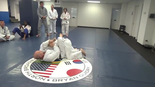 Guillotine to sit up sweep