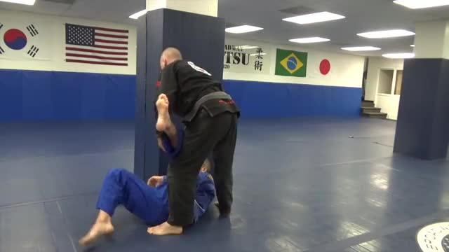 Takedown on the wall
