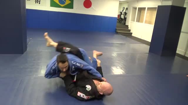 Closed guard sweep