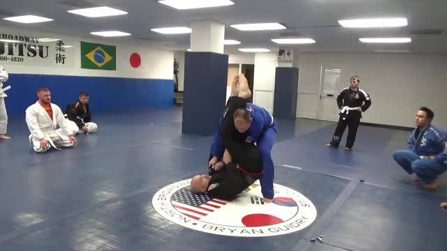 Pull guard to arm bar and triangle