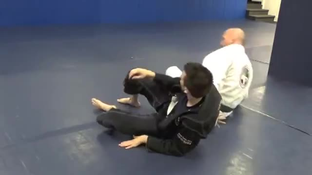 Kimura defense, back take