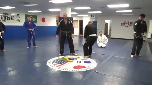 Defense to single and double leg takedowns