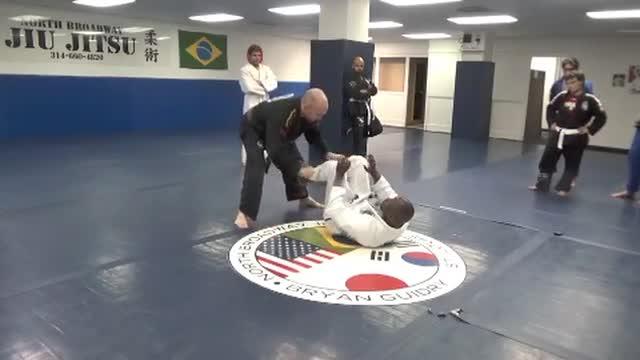 Open guard passing