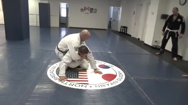 Arm drag to back take and arm bar