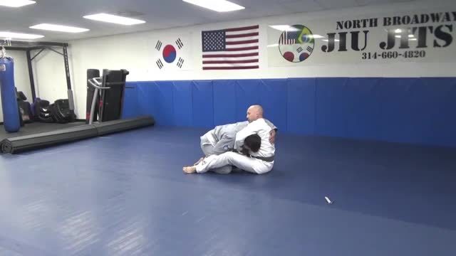 Guillotine defense on the ground - Level 3