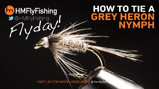 Tying a Grey Heron nymph fly pattern