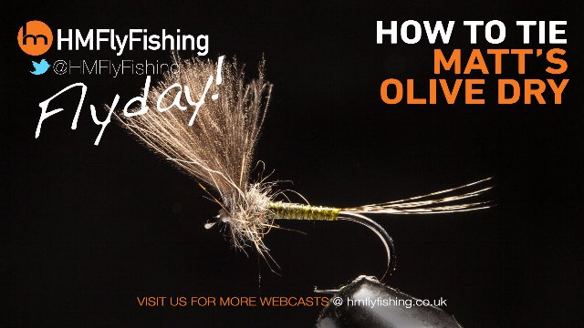 Tying Matt's Olive Dry Fly Pattern